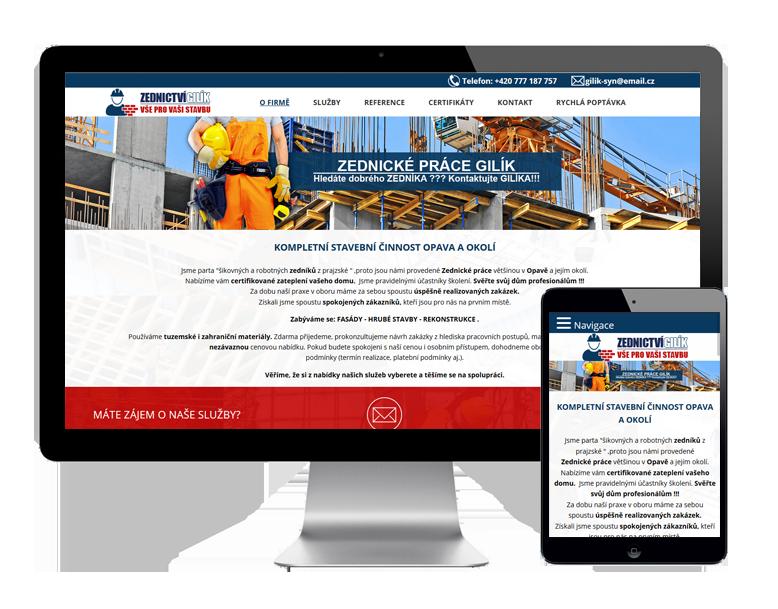 Tvorba webových stránek pro zednictví Ostrava