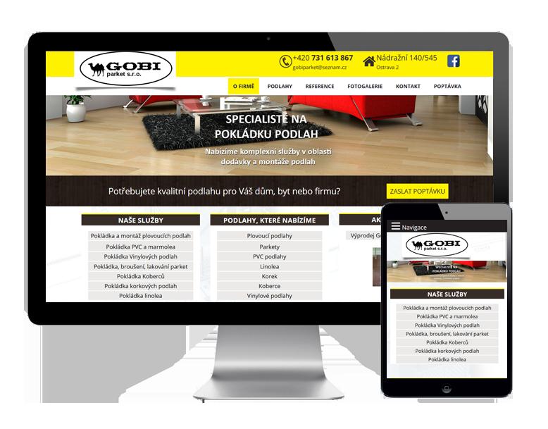 Tvorba webových stránek na míru pro podlahářství Ostrava