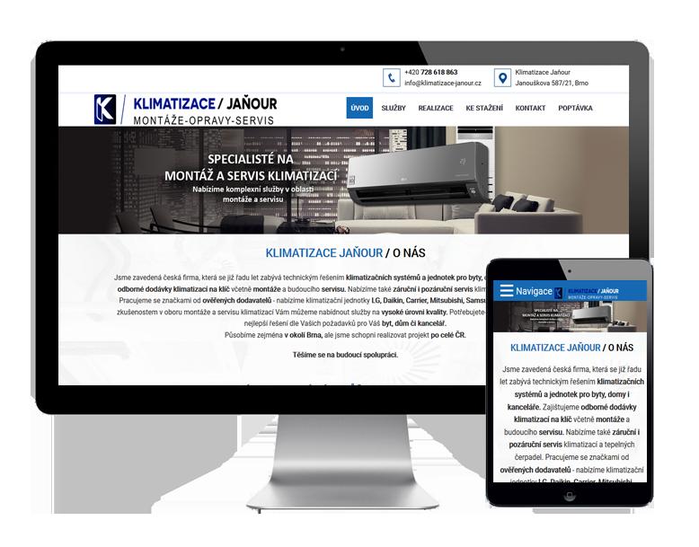 Tvorba webových stránek pro servis Brno