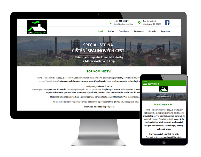Tvorba webových stránek Opava
